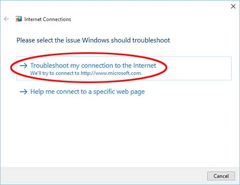 problem med internetuppkoppling